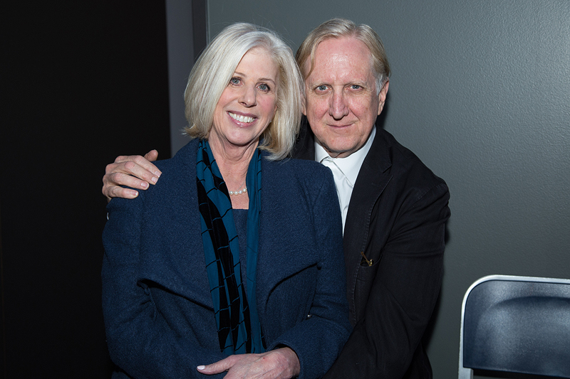 Callie Khouri and her husband 13-time Grammy Award-winning musician T Bone Burnett.
