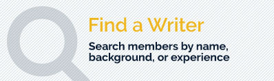 Find a Writer - Search members by name or experience